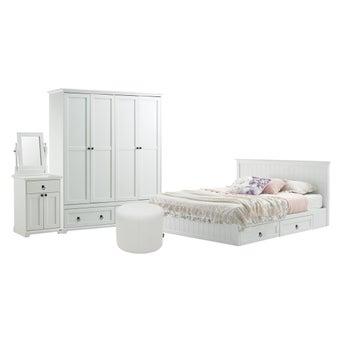 ชุดห้องนอน ขนาด 6 ฟุต รุ่น Melona สีขาว