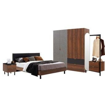 ชุดห้องนอน ขนาด 6 ฟุต รุ่น Tavern สีลายไม้ธรรมชาติ