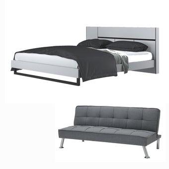 ชุดห้องนอน ขนาด 6 ฟุต รุ่น Exio สีขาว