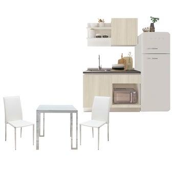 โต๊ะอาหาร รุ่น Montis สีขาว & เก้าอี้ Yinta & ชุดครัว Kuche