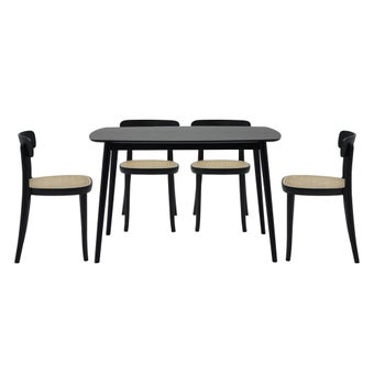 โต๊ะอาหาร รุ่น Inter สีดำ & เก้าอี้ รุ่น Seem