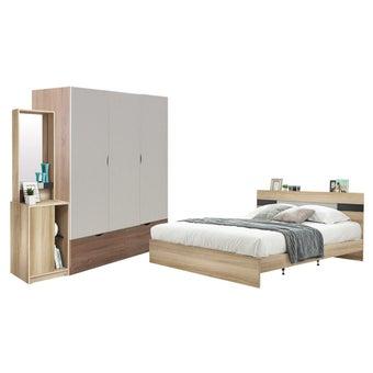 ชุดห้องนอน ขนาด 5 ฟุต รุ่น Harper สีโอ๊ค-00