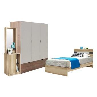 ชุดห้องนอน ขนาด 3.5 ฟุต รุ่น Harper สีโอ๊ค-00