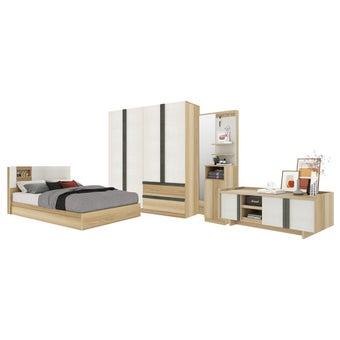 ชุดห้องนอน ขนาด 6 ฟุต รุ่น Nikko สีโอ๊ค01