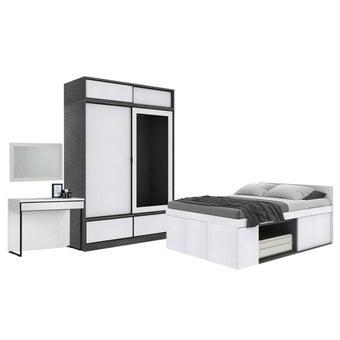 ชุดห้องนอน ขนาด 5 ฟุต รุ่น Groovi สีขาว01