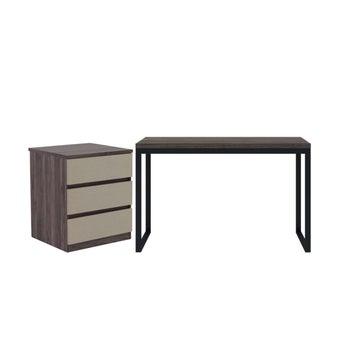 โต๊ะทำงาน รุ่น Exio ขนาด 120 ซม. ฟรี ตู้เก็บของ รุ่น Patch-01