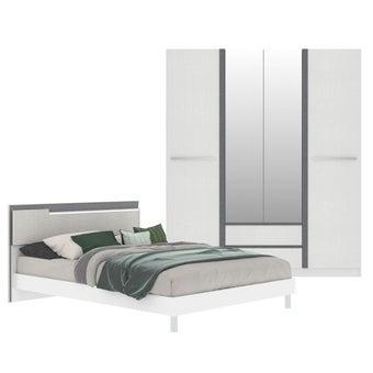 ชุดห้องนอน ขนาด 5 ฟุต รุ่น Pearly สีขาว-00