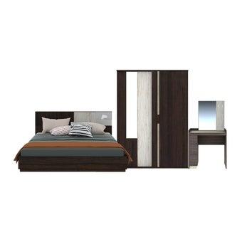 ชุดห้องนอน ขนาด 6 ฟุต รุ่น Econi สีเข้มลายไม้ธรรมชาติ01