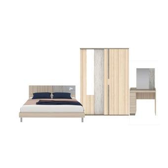 ชุดห้องนอน ขนาด 6 ฟุต รุ่น Econi สีโอ๊คอ่อน01