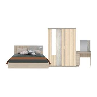ชุดห้องนอน ขนาด 5 ฟุต รุ่น Econi สีโอ๊คอ่อน01