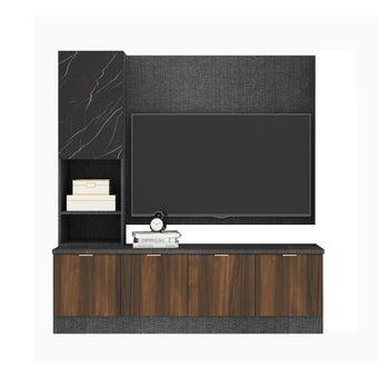 ชุดวางทีวีและตู้โชว์ รุ่น Contini สีไม้เข้ม01