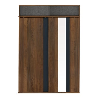 ตู้เสื้อผ้า ขนาด 160 ซม. รุ่น Diago สีลายไม้ธรรมชาติ01