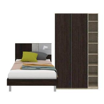 ชุดห้องนอน ขนาด 3.5 ฟุต รุ่น Econi สีเข้มลายไม้ธรรมชาติ01