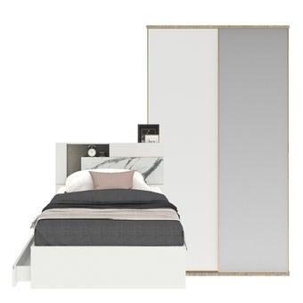ชุดห้องนอน ขนาด 3.5 ฟุต รุ่น Spazz สีขาว01