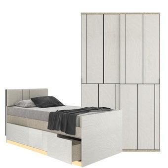 ชุดห้องนอน ขนาด 3.5 ฟุต รุ่น Blisz สีเทา 02