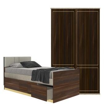 ชุดห้องนอน ขนาด 3.5 ฟุต รุ่น Blisz สีลายไม้ธรรมชาติ01