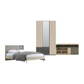 ชุดห้องนอน ขนาด 5 ฟุต รุ่น Econi สีขาว01