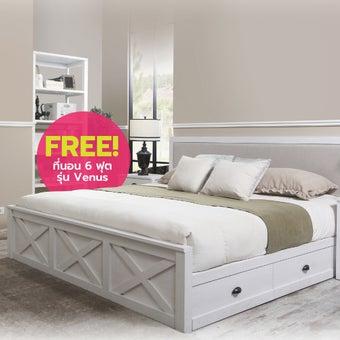 ชุดห้องนอน ขนาด 6 ฟุต รุ่น Marietta สีขาว01