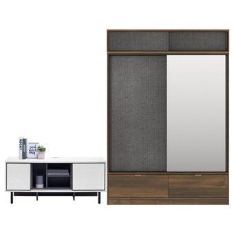 ตู้เสื้อผ้า ขนาด 160 ซม. รุ่น Hagen สีลายไม้ธรรมชาติ01