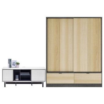ตู้เสื้อผ้า ขนาด 160 ซม. รุ่น Hagen สีโอ๊ค01