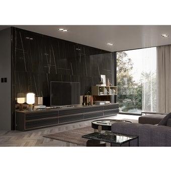 ชุดวางทีวีและตู้โชว์ รุ่น Infinity สีดำ01