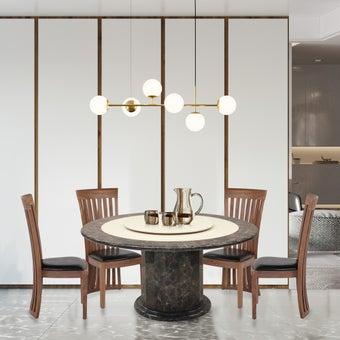 ชุดโต๊ะอาหาร รุ่น Firsttinum สีน้ำตาล01