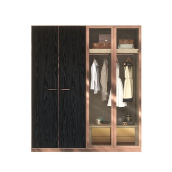 ตู้เสื้อผ้า ขนาด 200 ซม. รุ่น Wardrobe Plus สีไม้อ่อน1