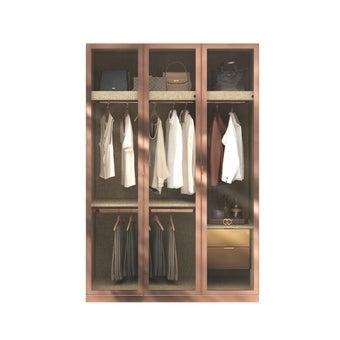 ตู้เสื้อผ้า ขนาด 150 ซม. รุ่น Wardrobe Plus สีไม้อ่อน1