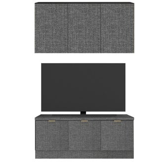 ชุดวางทีวีและตู้โชว์ รุ่น Contini สีเทา01