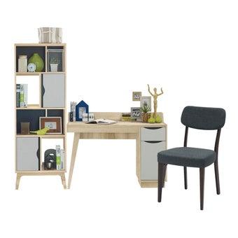 ชุดโต๊ะทำงาน รุ่น Backus สีโอ๊ค01