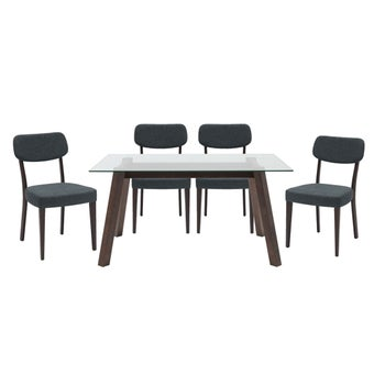 ชุดโต๊ะอาหาร รุ่น Ethan & เก้าอี้ Erikson สีเทา x401