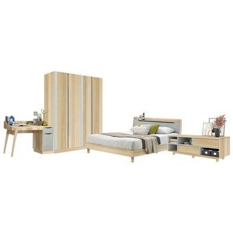ชุดห้องนอน ขนาด 6 ฟุต รุ่น Backus สีโอ๊ค01
