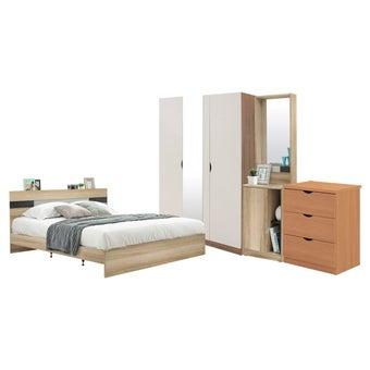 ชุดห้องนอน ขนาด 6 ฟุต รุ่น Harper สีโอ๊ค01