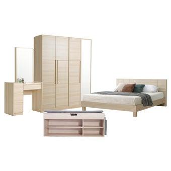 ชุดห้องนอน ขนาด 5 ฟุต รุ่น Hakone สีโอ๊คอ่อน01
