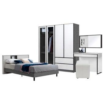 ชุดห้องนอน ขนาด 6 ฟุต รุ่น Paris สีขาว01