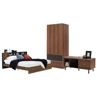 ชุดห้องนอน ขนาด 6 ฟุต รุ่น Diago สีลายไม้ธรรมชาติ01