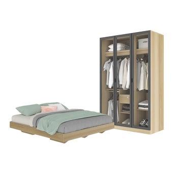 ชุดห้องนอน ขนาด 5 ฟุต รุ่น Blissey สีโอ๊ค01