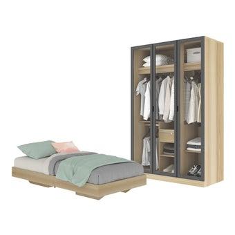 ชุดห้องนอน ขนาด 3.5 ฟุต รุ่น Blissey สีโอ๊ค01