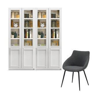 ตู้หนังสือ ขนาด 80 ซม. รุ่น Lybrary สีขาว01