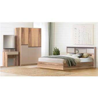 ชุดห้องนอน ขนาด 6 ฟุต รุ่น Spender สีโอ๊ค