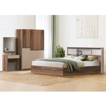 ชุดห้องนอน ขนาด 6 ฟุต รุ่น Spender สีน้ำตาล