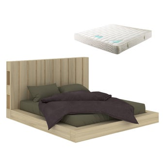 ชุดห้องนอน รุ่น Pallet สีลายไม้ธรรมชาติ01