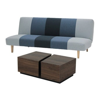 โซฟาเบด รุ่น NIFTY สีเทา & โต๊ะกลาง รุ่น IOWA