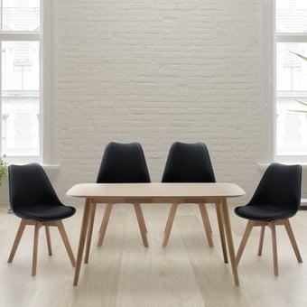 ชุดโต๊ะอาหาร รุ่น Tumo สีลายไม้ธรรมชาติ2