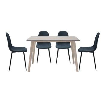 ชุดโต๊ะอาหาร รุ่น Wediya สีลายไม้ธรรมชาติ01