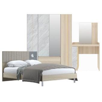 เตียงนอน ขนาด 6 ฟุต รุ่น Econi สีโอ๊คอ่อน01
