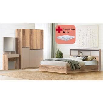ชุดห้องนอน ขนาด 6 ฟุต รุ่น KC Limited สีโอ๊ค01