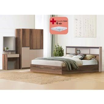 ชุดห้องนอน ขนาด 6 ฟุต รุ่น KC Limited สีน้ำตาล01