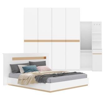 ชุดห้องนอน ขนาด 6 ฟุต รุ่น Luminus สีขาว01