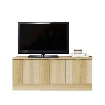 ชุดวางทีวีและตู้โชว์ 120 ซม. รุ่น Contini สีโอ๊ค01
